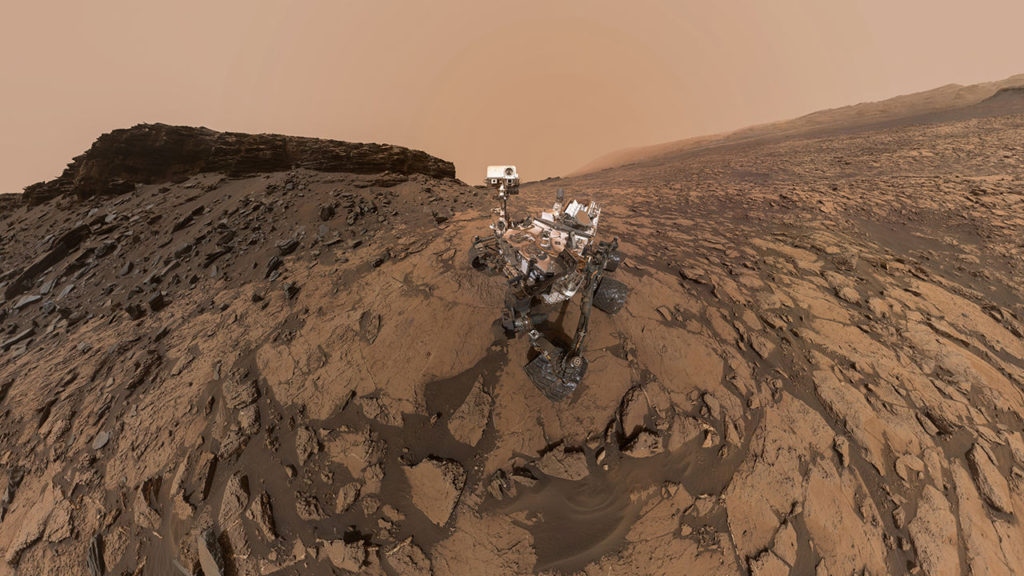Researchers Measured the Density of Rock Layers in Gale Crater