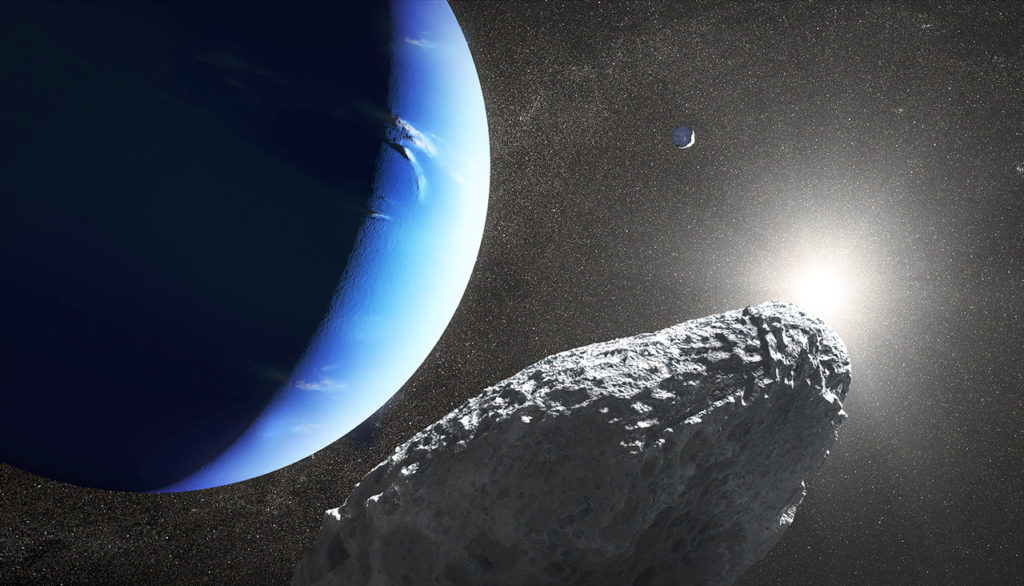 Tiny Neptune Moon, called Hippocamp, may have Broken from a Larger Moon