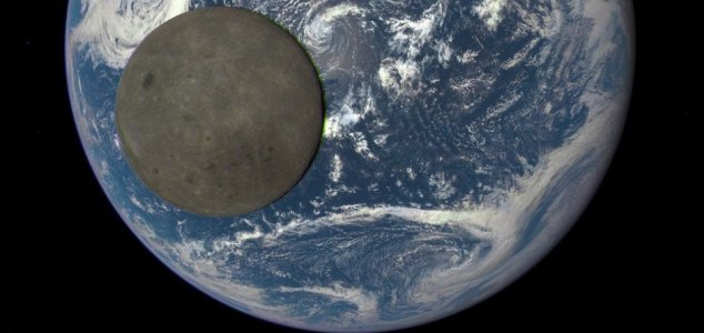 Moon in Front of the Earth