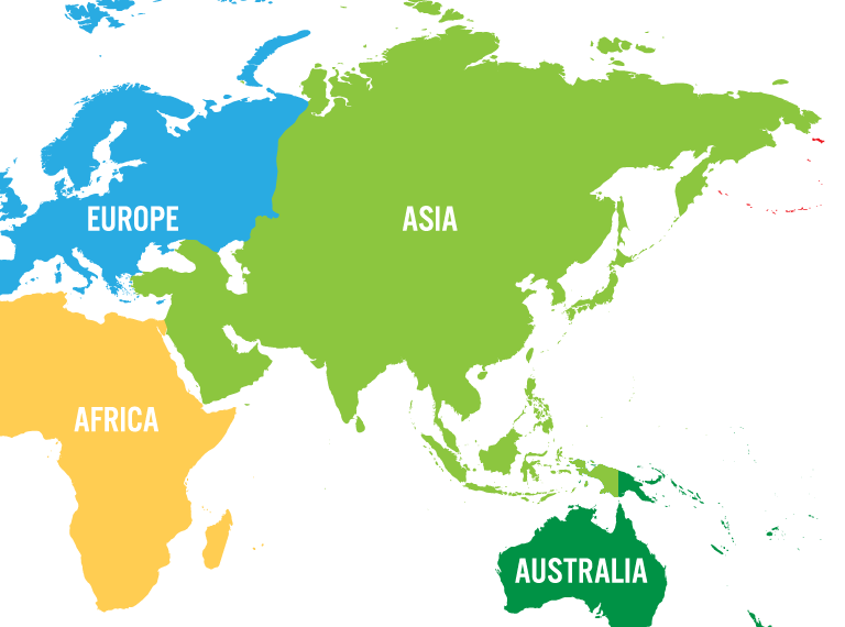 Border between Asia and Europe - Continents