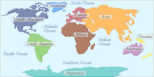 Greenland – Europe or North America - Continents