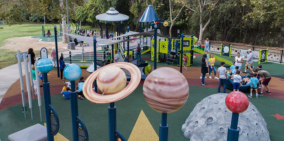 Space-themed Playgrounds