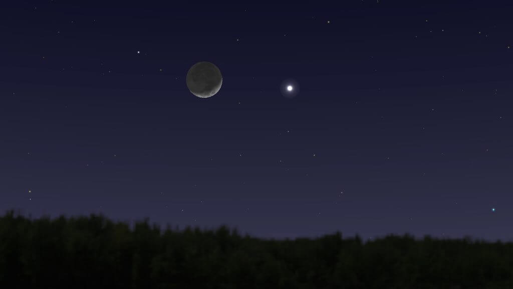 Close Approach of Moon and Mars (14th May)
