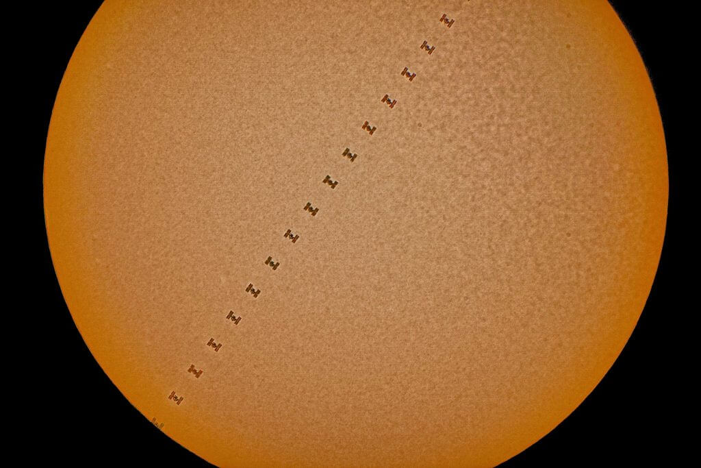 ISS Solar Transit - Space Images
