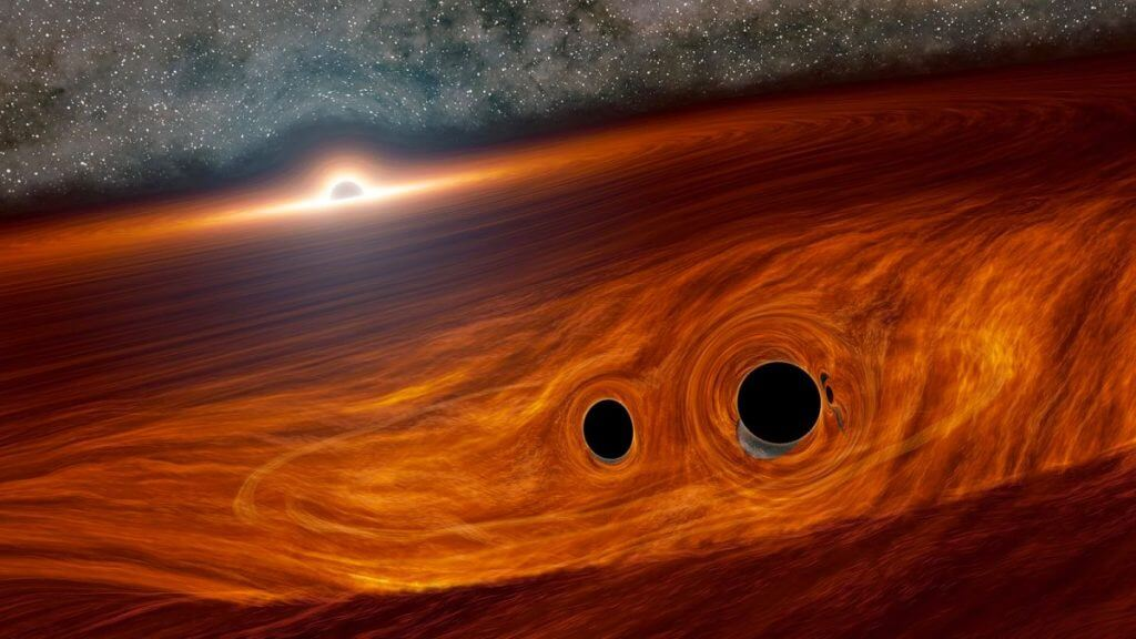 Scientists Found Flashes of Light from Colliding Black Holes